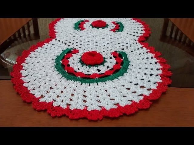 Como executar o trilho de mesa em crochê com 5 rosas parte 1