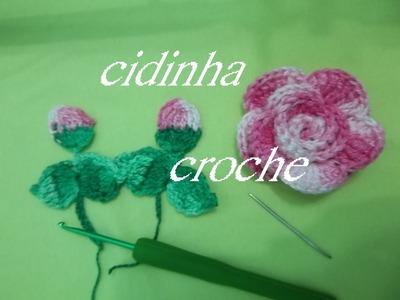 Croche -Tapete Oval Florido- Passo A Passo- Parte 3