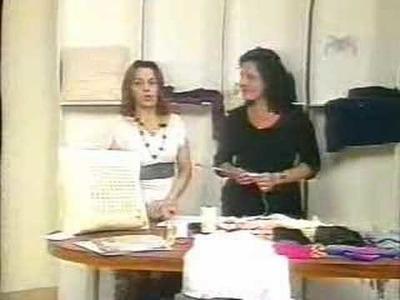 """Crochê tunisiano com Mary """"Almofada Fantasia"""" Parte 2.2"""