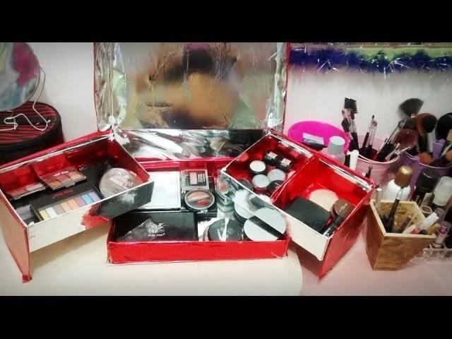 DIY - Organizador de Maquiagem Feito C. Caixa de Sapato