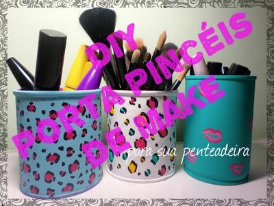 DiY Porta Pincéis de Maquiagem