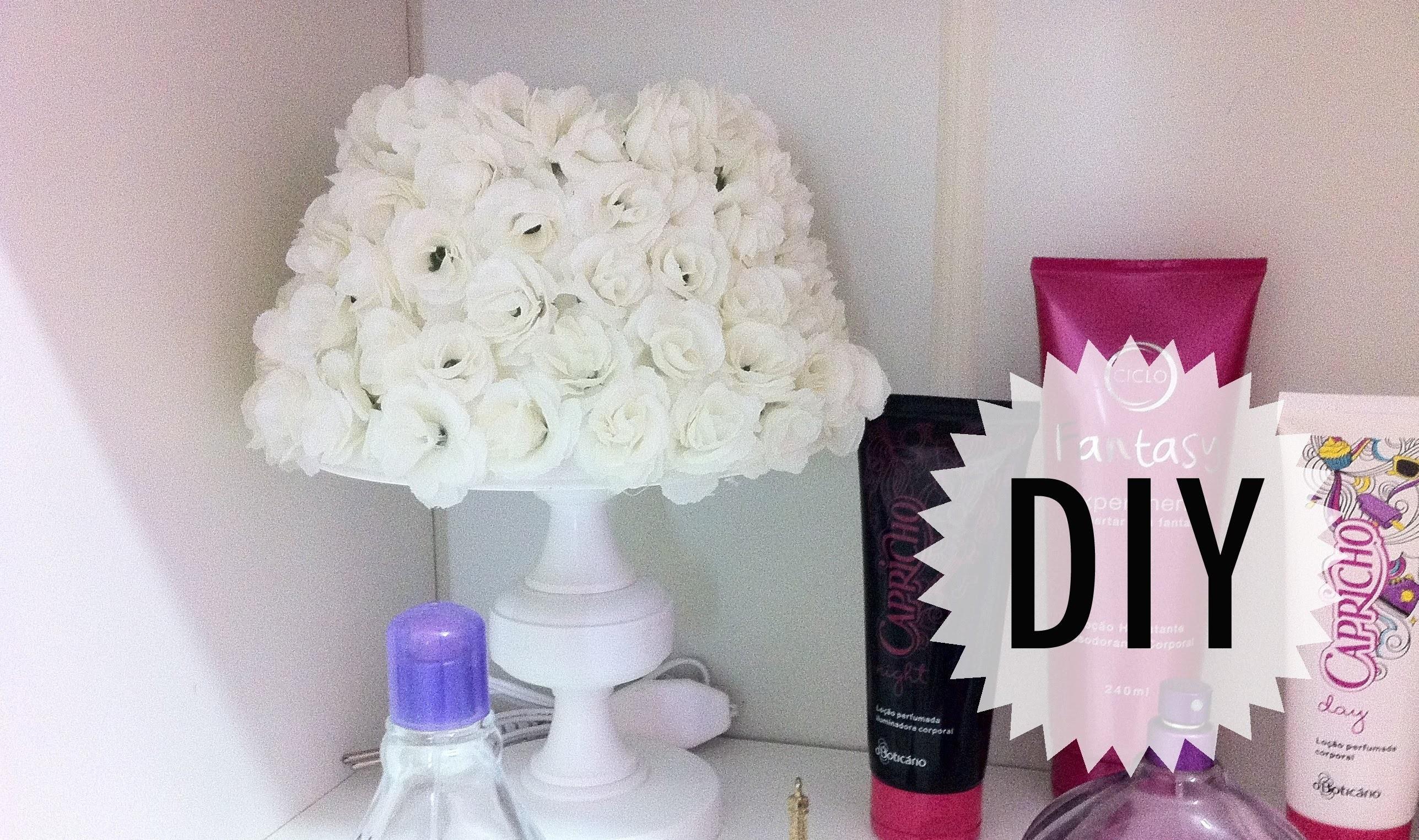 Faça você mesma - como fazer: abajur de flores (decoração de quartos)