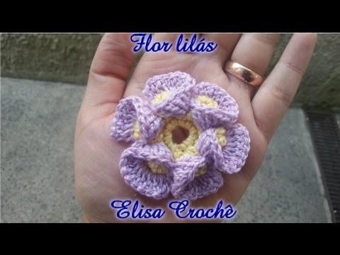 Flor de crochê simples # Elisa Crochê