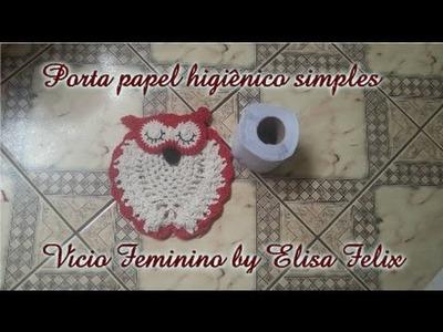 Jogo de banheiro coruja : Porta papel higiênico