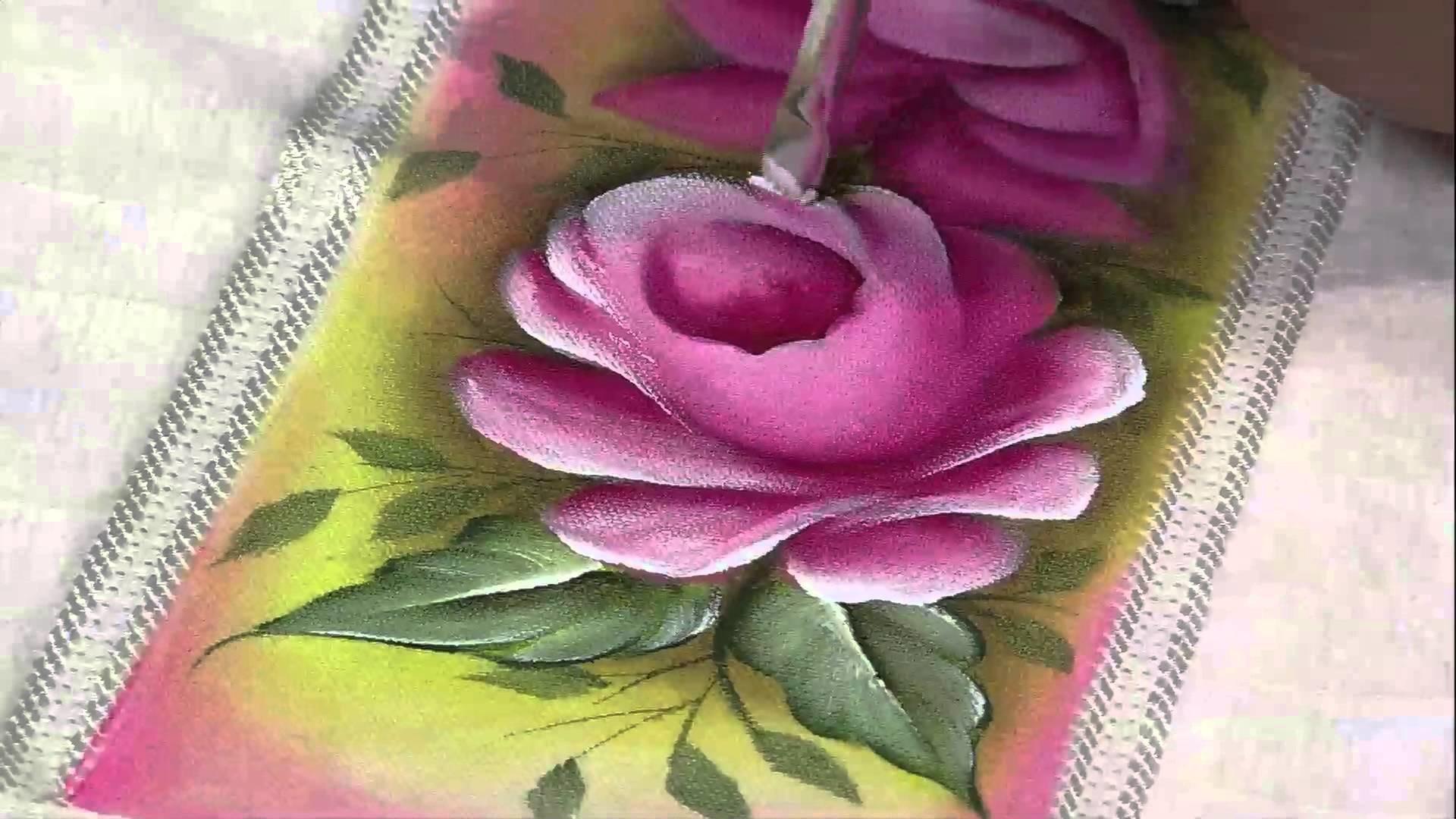 Mulher.com 15.03.2013 Luciano Menezes - Pintura em tecido rosas  parte 2