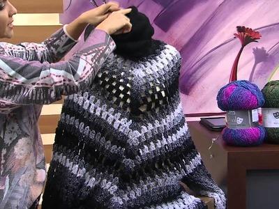 Mulher.com 21.07.2014 - Vestido Poncho Dual por Noemi Fonseca - Parte 2