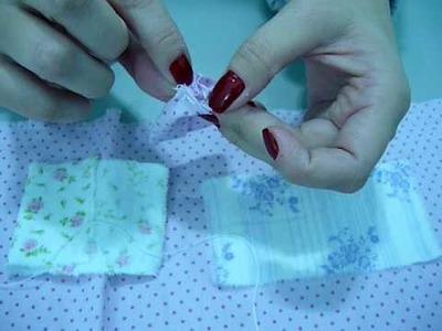 Pap flor de tecido parte 2