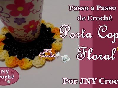 Passo a Passo de Crochê Centrinho ou Porta copos Floral por JNY Crochê