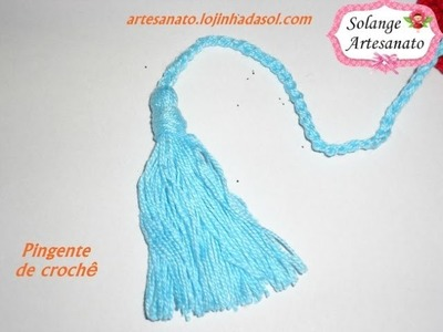 Pingente de crochê (Solange L Artesanato)