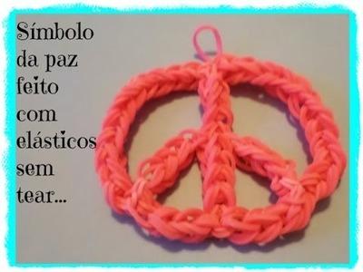Simbolo da Paz feito de elásticos,sem tear.