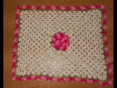 Tapete jogo banheiro croche floral parte 2