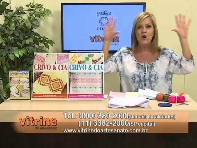 Toalha de Lavabo com Leila Jacob e Flores Campestres com Luis Moreira | Vitrine do artesanato na TV