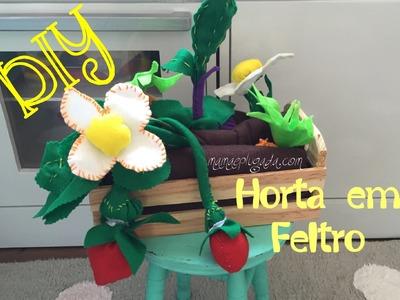Tutorial DIY horta em feltro para crianças (fiber art)