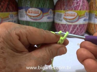 Aprenda a fazer: Crochê para iniciantes BIG artes.com.br