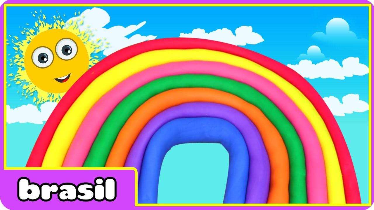 Arco íris de Massinha | Rainbow Play doh | Play doh Videos by HooplaKidz Brasil