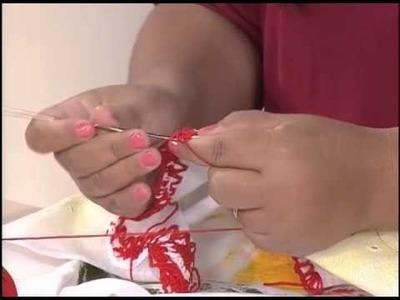 Artesanato - Bico em pano de prato em crochê (09.06.2015)