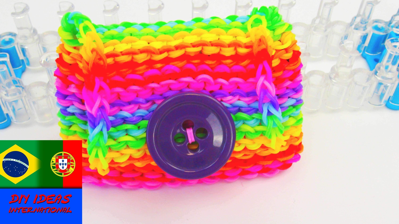 Como fazer carteira com elásticos DIY. Carteira prática e fofa feita de elásticos | português