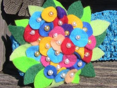 D.I.Y. Faixa para cabeça de bebe -- Fabric flower tutorial