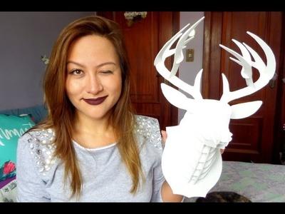 ♥ DIY: cabeça de cervo.alce