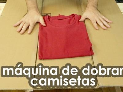 Fantástica máquina de dobrar camisetas (dica doméstica)
