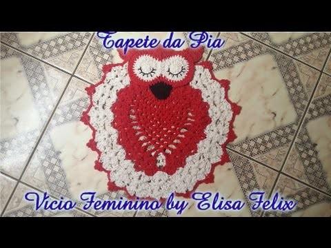 Jogo de banheiro coruja: Tapete da pia Vício Feminino by Elisa Felix