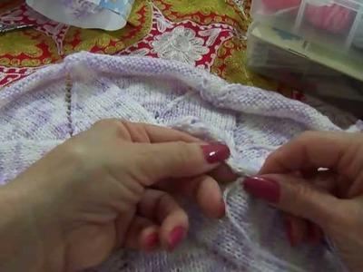 Manta de tricô parte 3