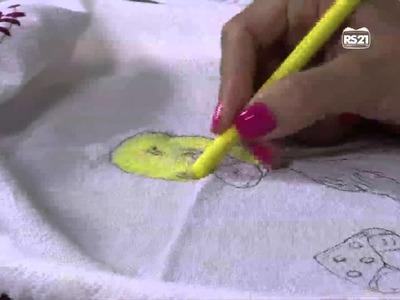 Mulher.com 31.01.2013 Vera Lucia Cunha - Pintira com giz de cera  parte 1