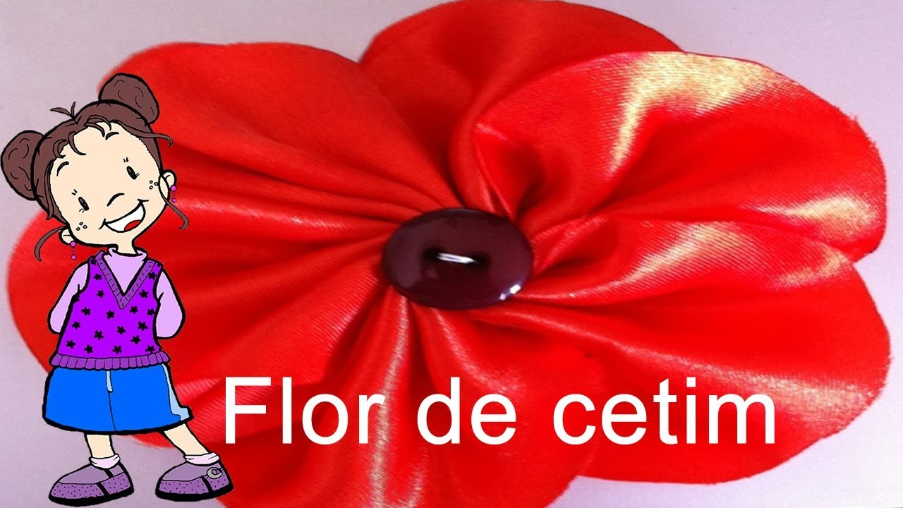 Passo a Passo - Flor de Cetim
