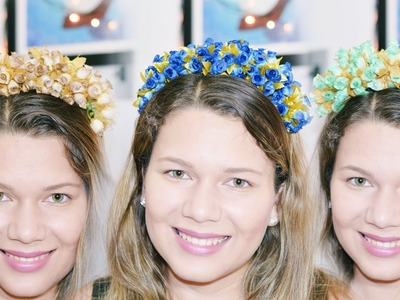 Tiara de Flores Linda e Fácil por R$6,00