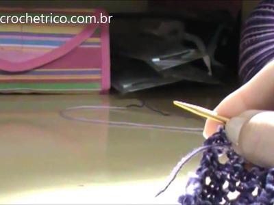 Tricô para Canhotas - Touca Yasmin (0 à 3 meses) - Parte 02.02