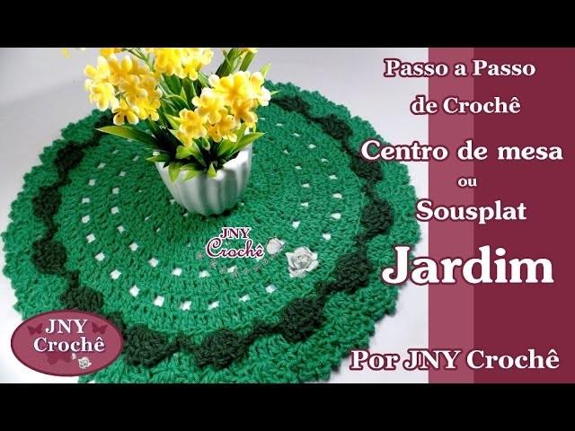 Centro de mesa ou sousplat de crochê por JNY Crochê