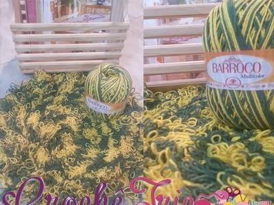 Crochê - Tapete Barroco Multicolor Torcida Brasil