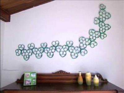 Decora Barato! Escultura de parede feita com jornal.
