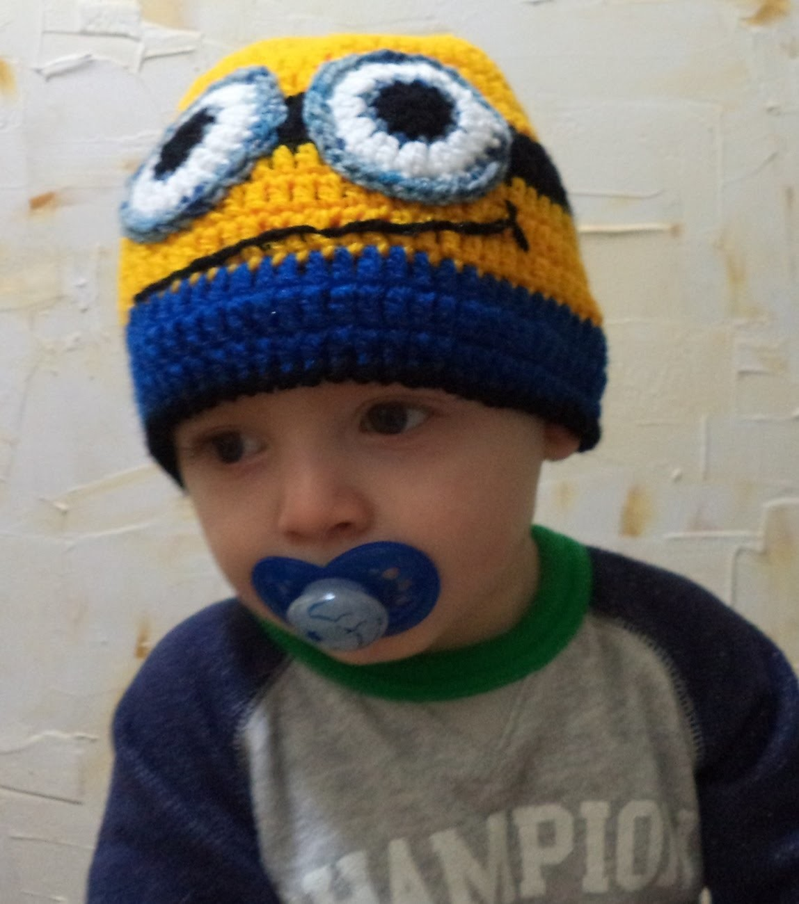 Diy - Touca (gorro)  minions em Crochê Nº 3 - Enzo - 1 Ano - Graça Tristão