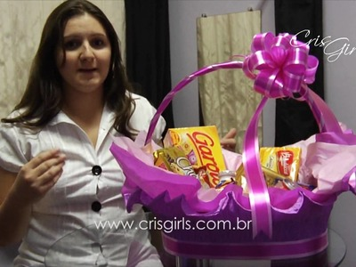 Drops da Cris - Cesta Chocolate Feminina