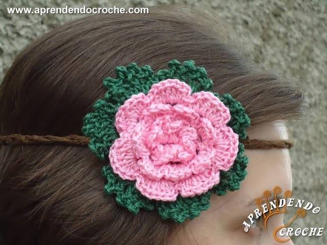 Headband de Croche Floral - Aprendendo Crochê