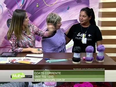 Mulher.com 27.04.2015 Vitória Quintal - Pelerine em tricô Parte 1.2