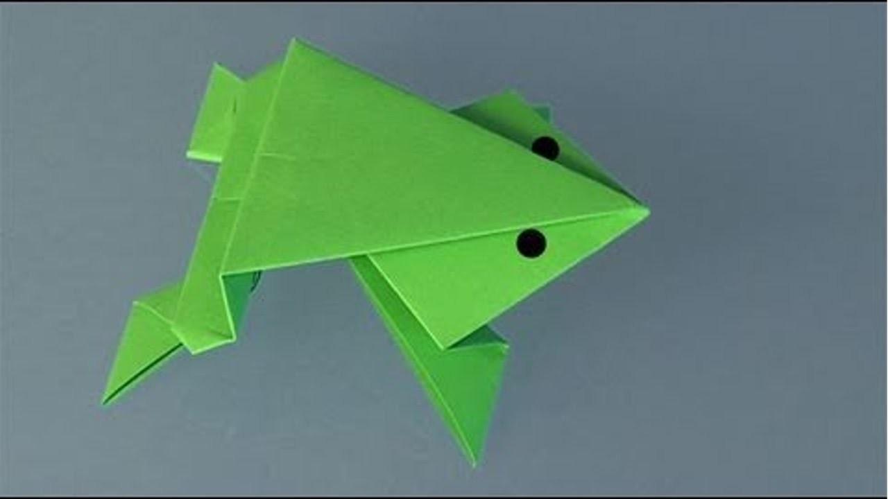 Origami - Sapo - Cursos CPT