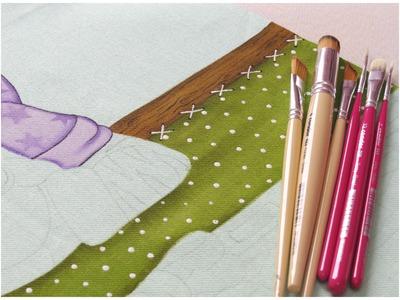 Pintura em tecido - Projeto Zebrinha Jurema - Parte 4