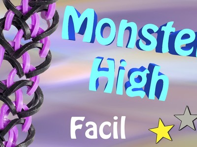 Pulseira de Elasticos coloridos Monster High - Loom bands