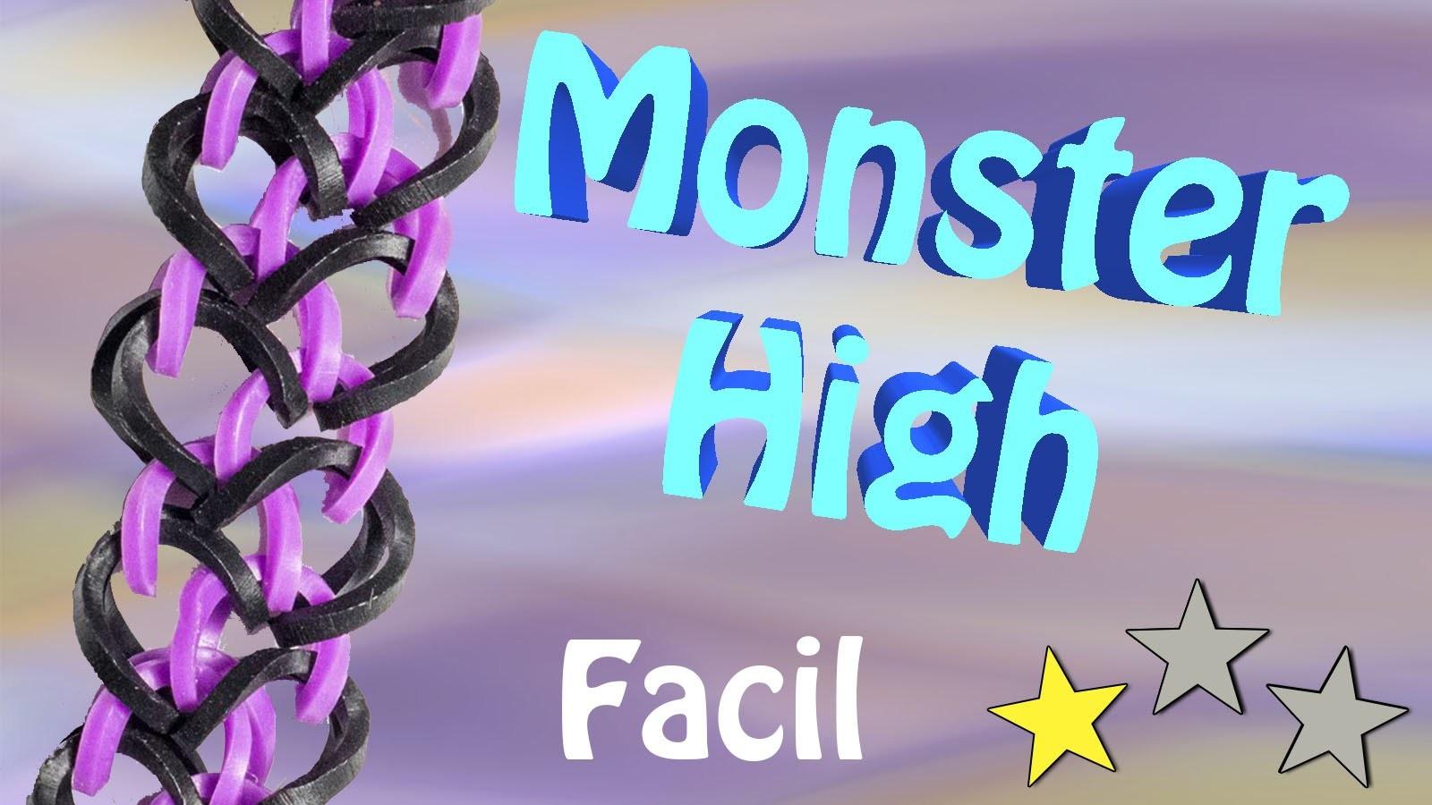 Pulseira de Elasticos coloridos Monster High - Loom bands