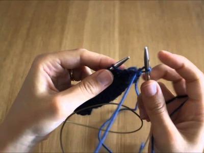 Querido tricot - Rematar em liga (p2tog bind-off)