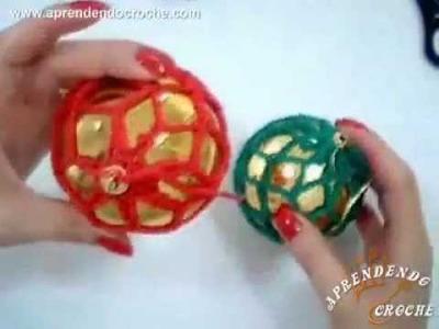 Rede de Croche para Bolas de Natal - Aprendendo Crochê