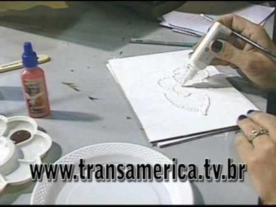 Tv Transamérica - Técnica caixa madeira em relevo