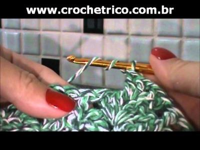 Crochê - Tapete Verde em Barbante - 01.02