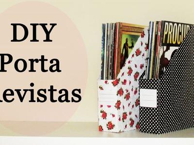 DIY: Porta Revistas Personalizado (Organizador Livros e Cadernos. Back to School - Reciclagem)
