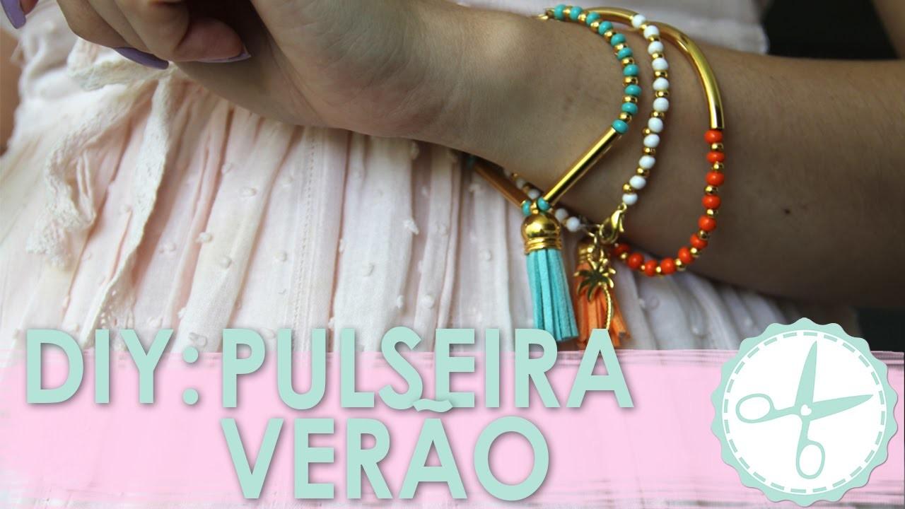 DIY Pulseira Verão com Tassel - wFashionista
