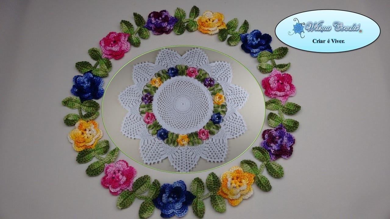 Flor de Crochê para Aplicação no Centro de Mesa Floral - Aula 02