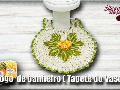 Jogo de Banheiro em Crochê-Tapete Vaso