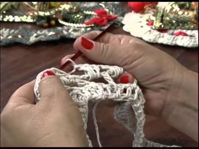 Mulher.com 21.11.2012 Carmem Freire - Guirlanda crochê endurecido 1.2